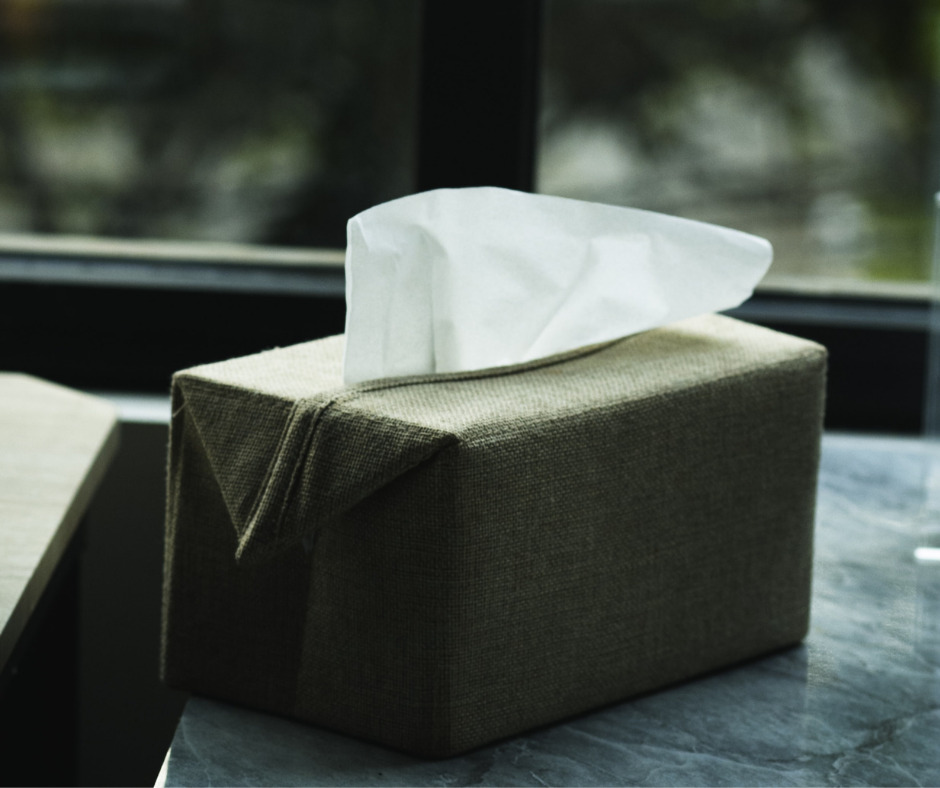 tissue box: blowing your nose incorrectly can cause trauma to ears